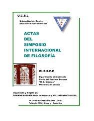 actas del primer simposio internacional de filosofía - William R. Daros