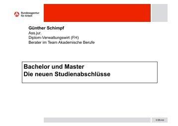 Bachelor und Master Die neuen Studienabschlüsse