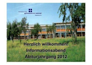 Präsentation von Herrn Thoma und Herrn Bareth - Sankt Meinrad ...