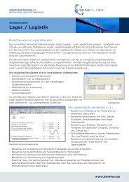 Infoblatt Lager / Logistik - SimPlan AG