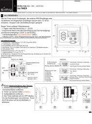 Bedienungsanleitung Zeitschaltuhr f. Funkmotoren - Simu Antriebe