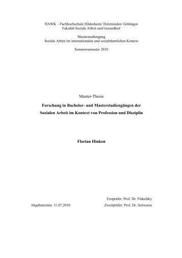 master thesis coaching