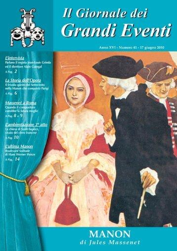 Manon - Il giornale dei Grandi Eventi