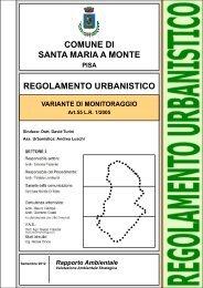 Rapporto Ambientale Vas - Comune di Santa Maria a Monte