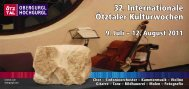32. Internationale Ötztaler Kulturwochen