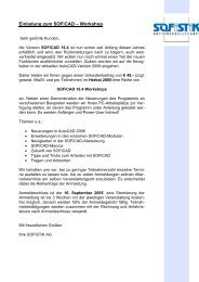 Einladung zum Workshop - SOFiSTiK AG