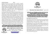 Projektinformationen 2006/2007 - Eine-Welt-Laden e.v.