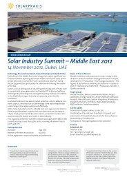 Solar Industry Summit – Middle East 2012 14 ... - Solarpraxis