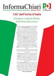 Foglio Informativo del circolo PD di Chiari marzo 2011 - Partito ...