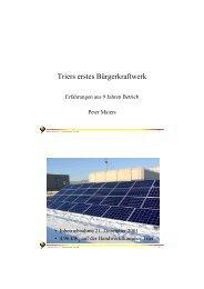 Erfahrungen BKW Trier 2010 - Solarverein Trier