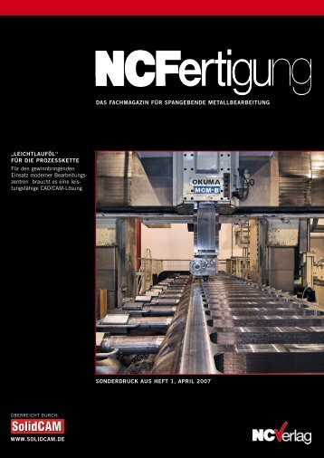 Sonderdruck NC-Fertigung 05/2007 [PDF] - SolidCAM
