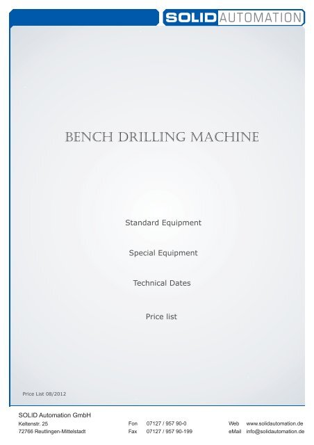 Bench Drilling Machine - SOLID AUTOMATION