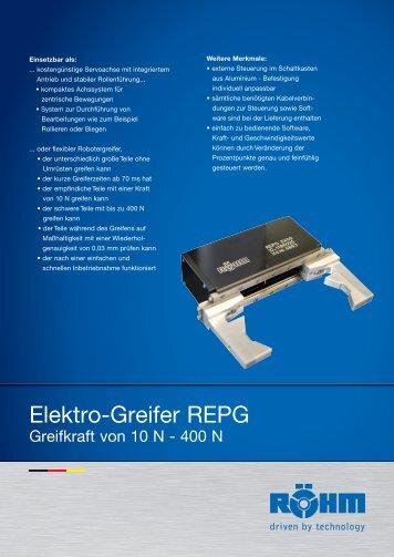 Flyer Elektrogreifer - SOLID AUTOMATION