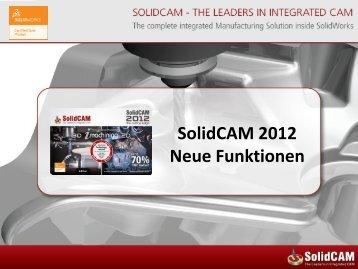Neue Funktionen in SolidCAM 2012