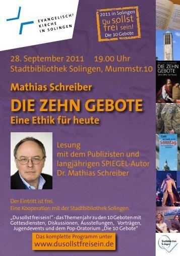"""Mathias Schreiber: """"Die zehn gebote"""""""