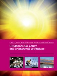 Guidelines for policy and framework conditions - Solid