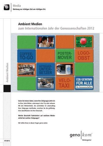 Ambient Medien - geno kom Werbeagentur GmbH