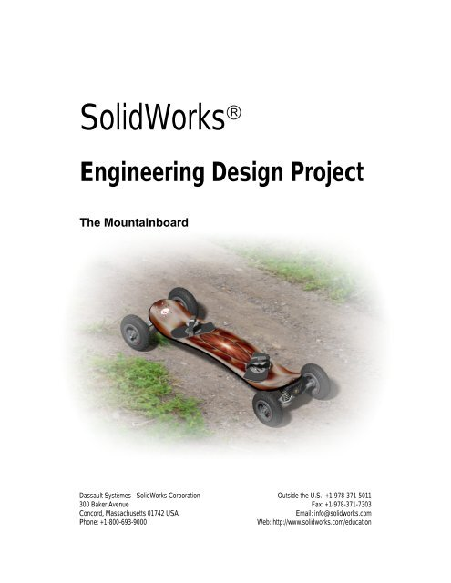 Engineering Design Project The Mountainboard Solidworks