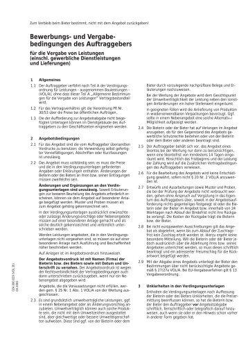 Bewerbungs- und Vergabe- bedingungen des Auftraggebers - Soltau