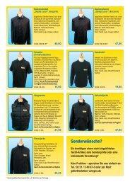 Bestellformular für Textilien (PDF)