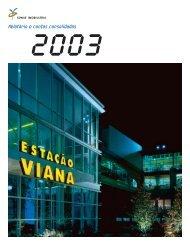 Relatório e Contas Consolidadas 2003 - Sonae Sierra