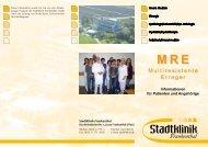 Flyer MRE - Multiresistente Erreger - Stadtklinik Frankenthal