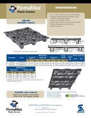 FirmaMax 48 x 40 Nestable Pallet - Sonoco