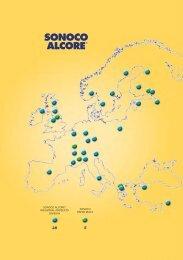 map of Sonoco Alcore locations