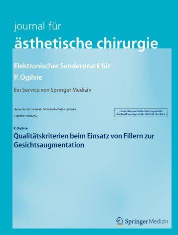 journal für ästhetische chirurgie Nr.3 2012 - Skin Concept
