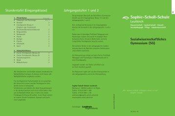 Infoprospekt (PDF, 65 KB) - Sophie-Scholl-Schule Leutkirch
