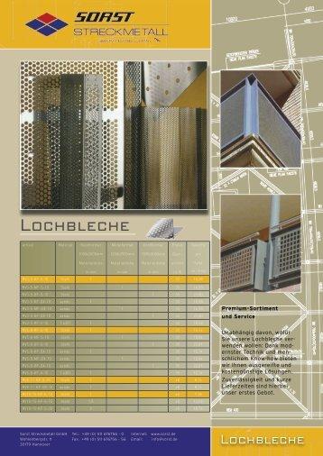 Lochbleche - Sorst