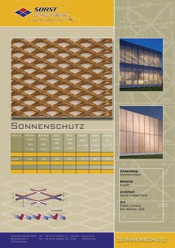 Sonnenschutz - Sorst Streckmetall GmbH