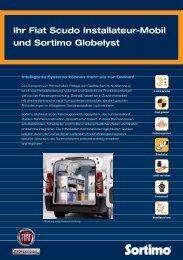 Ihr Fiat Scudo Installateur-Mobil und Sortimo Globelyst - Sortimo.at