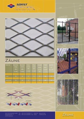Zäune - Sorst Streckmetall GmbH