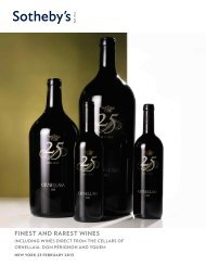 FINEST AND RAREST WINES - Sotheby's