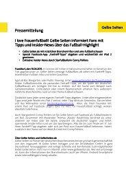 Download Pressemitteilung - Gelbe Seiten Marketing Gesellschaft
