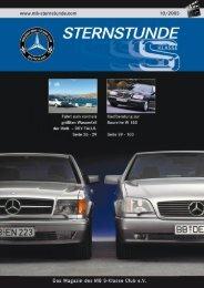 STERNSTUNDE - Mercedes-Benz S-Klasse Club eV