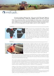 Composting Projects, Egypt and South Africa - South Pole Carbon
