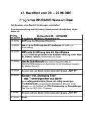 Programm - Gewerbeverein Brandenburg