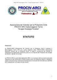 STATUTO - Protezione Civile Salsomaggiore Terme