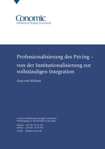 Professionalisierung des Pricing - Conomic Marketing & Strategy ...