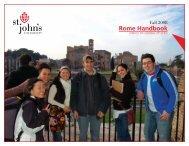 Rome Handbook - St. John's University
