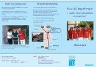 Flyer Praxis für Ergotherapie Meiningen - Sozialwerk Meiningen