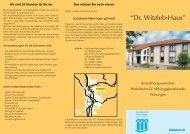 Flyer Dr. Witzleb Haus - Sozialwerk Meiningen