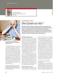 Polypharmazie im Alter (Artikel) - Sozialwerk Meiningen