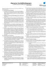 Allgemeine Geschäftsbedingungen - SKYTRON Communications ...