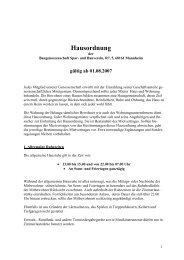 Hausordnung neu - Baugenossenschaft SPAR und