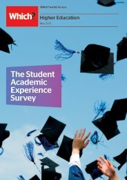 The Student Academic Experience Survey