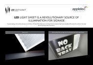 LED LIGHT SHEET IS a rEvoLuTIonary SourcE of ILLumInaTIon for SIGnaGE