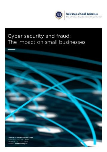 Cyber security and fraud: The impact on small businesses